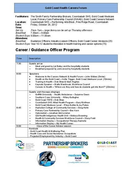 Gold Coast Health Careers Forum