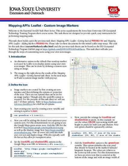 Mapping API's: Leaflet - Custom Image Markers