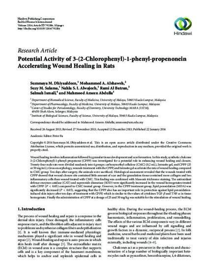 Potential Activity of 3-(2-Chlorophenyl)-1-phenyl