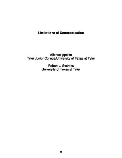 limitations of communication