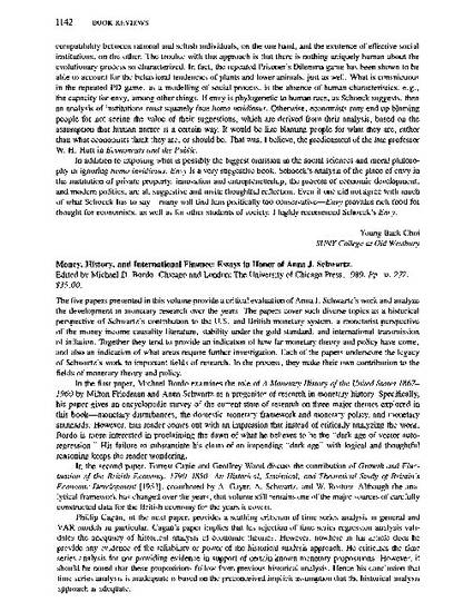 From Thesis To Essay Writing Review Of Emmoney History And International Finance Essays In Honor  Of Anna J Schwartzem By Michael D Bordo By Abdur Chowdhury High School Essay Samples also Last Year Of High School Essay Review Of Emmoney History And International Finance Essays In  Process Essay Thesis Statement