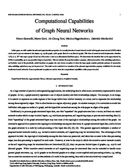 Computational capabilities of graph neural networks
