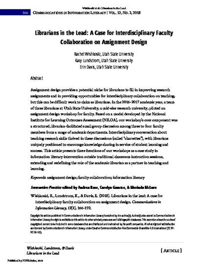 Librarians in the Lead: A Case for Interdisciplinary Faculty