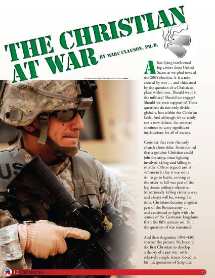 The Christian At War By Marc A Clauson