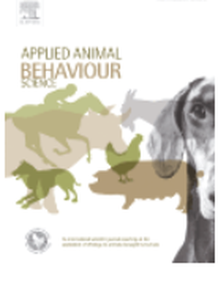 applied animal behaviour science 148 2013 Journal of applied animal welfare science, 20(4)  c i, grice, j w, & kennison, s m (2013) journal of applied animal behaviour science, 47, 49–60 more.