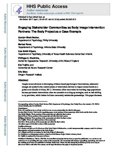 stakeholder paper example