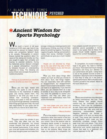 Ancient Wisdom for Sports Psychology pdf