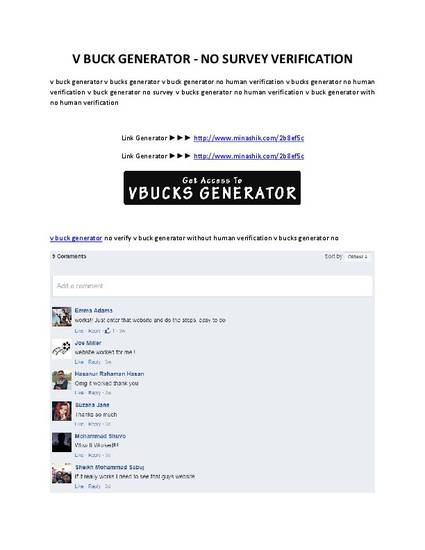 V Buck Generator No Survey Verification By Cecep Utama