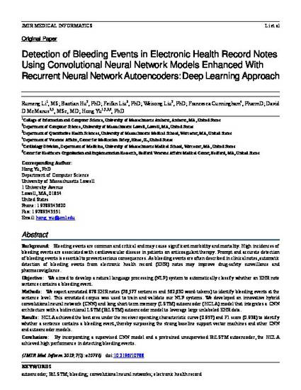 Detection of Bleeding Events in Electronic Health Record Notes Using