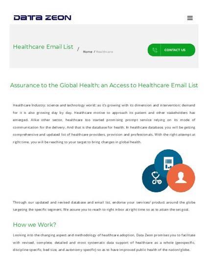 Health Care Email list- USA