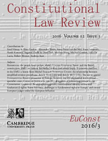 european law review European constitutional law review | read articles with impact on researchgate, the professional network for scientists.