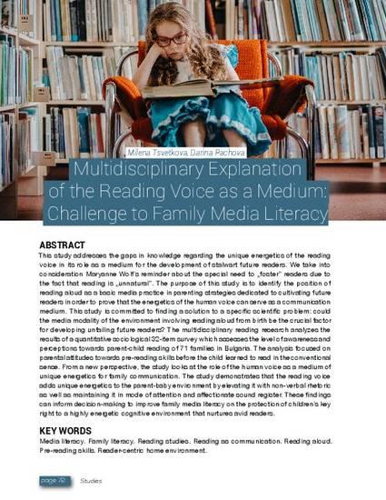 Multidisciplinary Explanation of the Reading Voice as a Medium