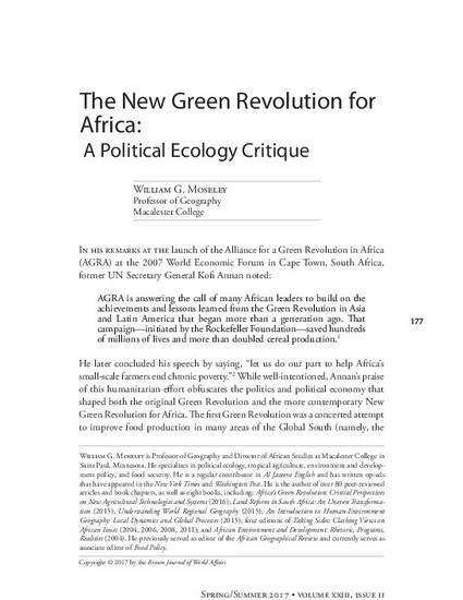 green revolution geography