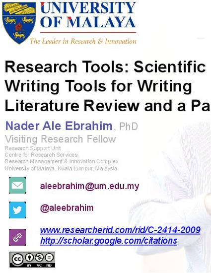 Tips for writing your first scientific literature review article - asbmb