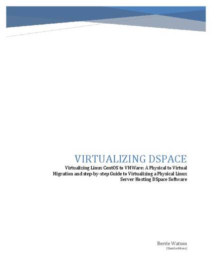 Virtualizing Linux DSpace to VMWare pdf