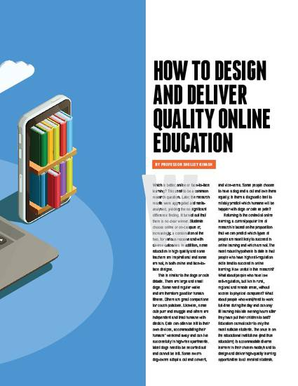 How To Design Deliver Quality Online Education Educational