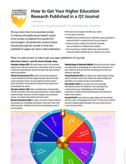 How To Get Your Higher Education Research Published In A Q1 Journal By Prof Shelley Kinash