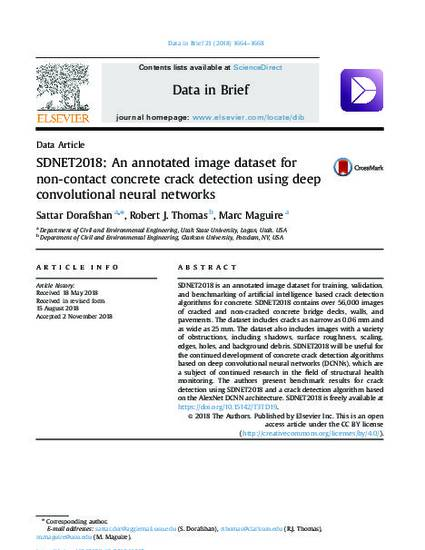 SDNET2018: An Annotated Image Dataset for Non-Contact
