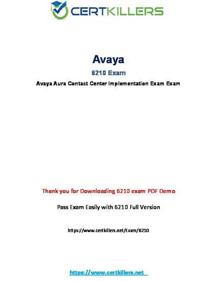 Avaya Aura ContactCenter Implementation 6210 Exam Q/&A+SIM