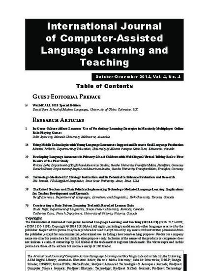 Technology Mediated L2 Strategy Instruction And Its Potential To