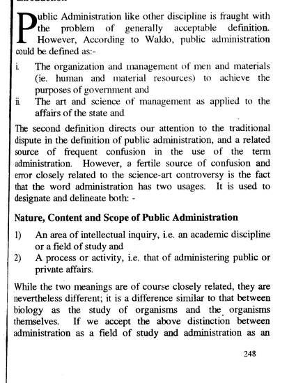 public administration definition