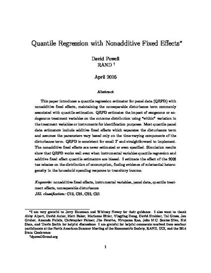 Quantile Regression with Nonadditive Fixed Effects