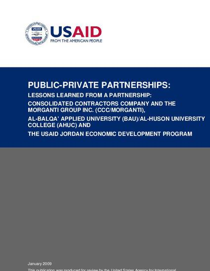 Public-Private Partnerships: Lessons Learned from a